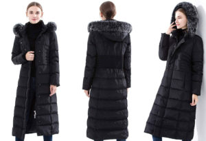 Obosoyo Womens Hooded Thickened Long Down Jacket Maxi Parka Puffer Coat