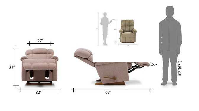 lazy boy recliner dimensions