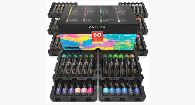 ARTEZA Acrylic Paint of 60 Colors